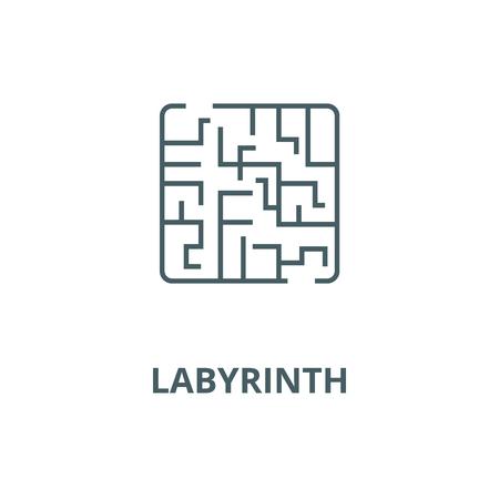 Labyrinth vector line icon, outline concept, linear sign Ilustração