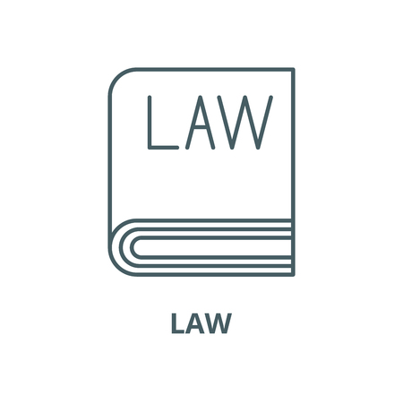 Law vector line icon, outline concept, linear sign