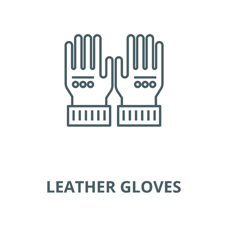 Leather gloves vector line icon, outline concept, linear sign