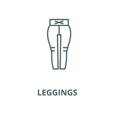 Leggings vector line icon, outline concept, linear sign