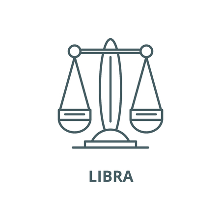 Libra, the zodiac sign vector line icon, outline concept, linear sign Ilustracja