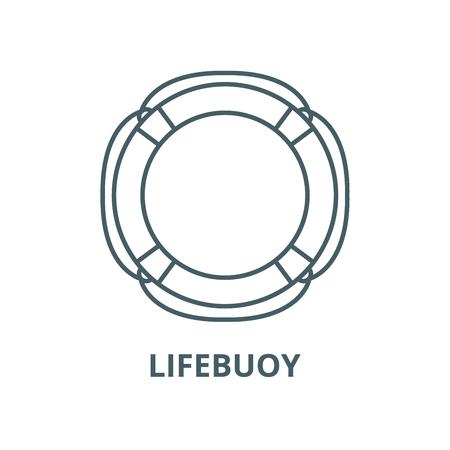 Lifebuoy vector line icon, outline concept, linear sign Standard-Bild - 122415868