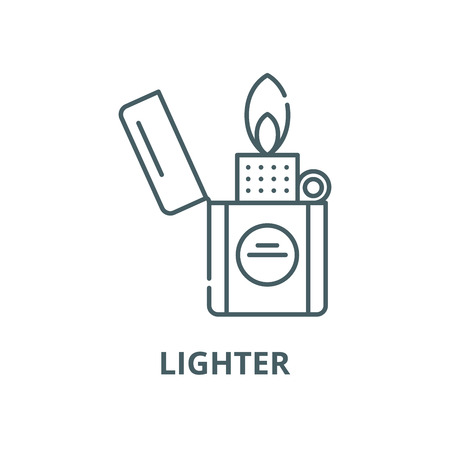 Lighter vector line icon, outline concept, linear sign