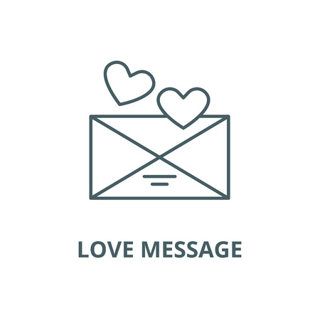 Love message vector line icon, outline concept, linear sign