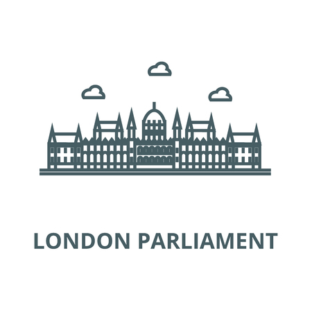London parliament vector line icon, outline concept, linear sign Иллюстрация