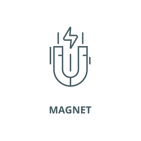 Magnet vector line icon, outline concept, linear sign  イラスト・ベクター素材