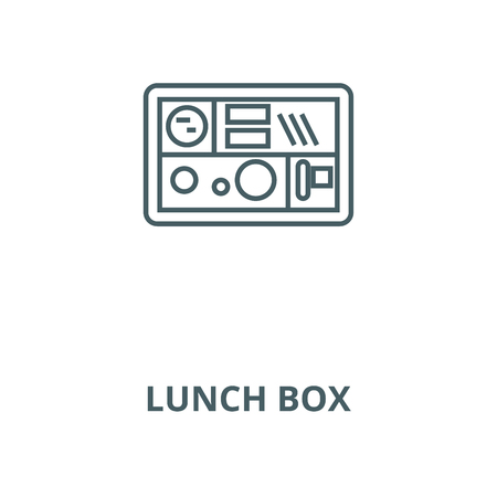 Lunch box vector line icon, outline concept, linear sign Illustration