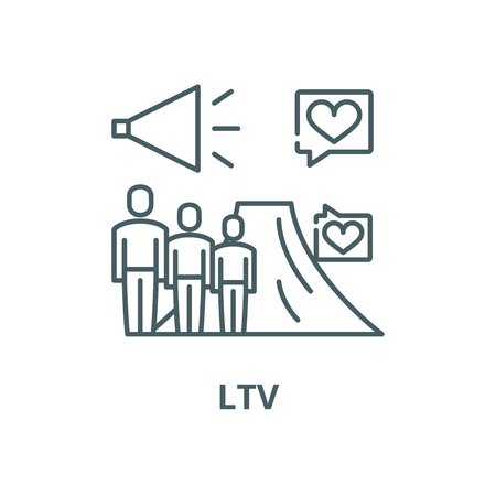 Ltv vector line icon, outline concept, linear sign