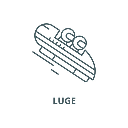 Luge vector line icon, outline concept, linear sign