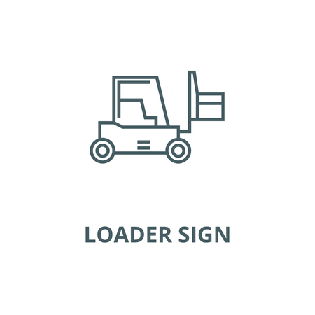 Loader sign vector line icon, outline concept, linear sign