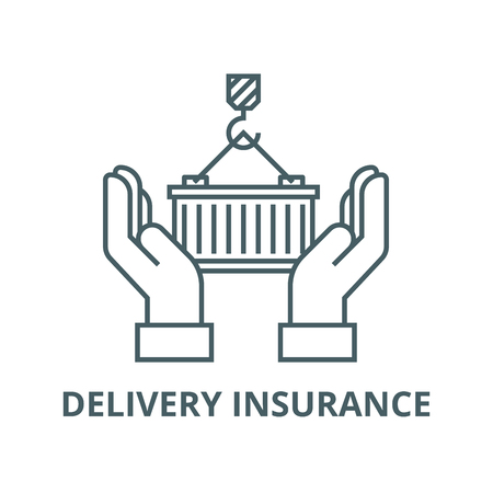 Logistics care,delivery insurance vector line icon, outline concept, linear sign Illustration
