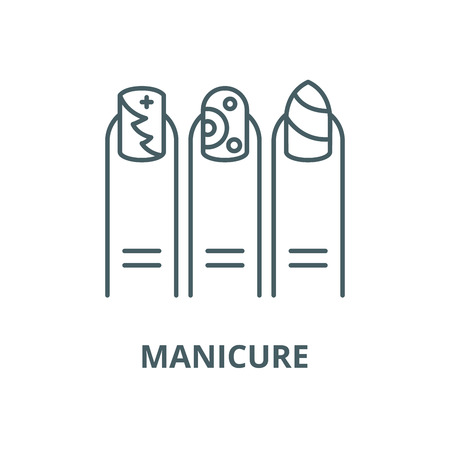 Manicure vector line icon, outline concept, linear sign