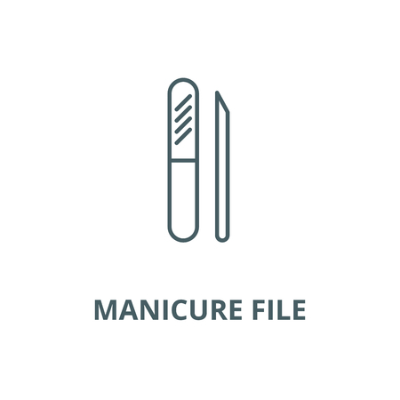 Manicure file vector line icon, outline concept, linear sign