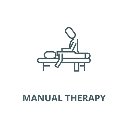 Manual therapy,massage,spa,osteopathy vector line icon, outline concept, linear sign