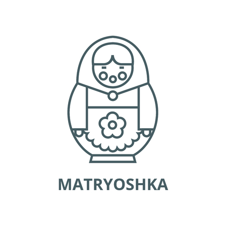 Matryoshka vector line icon, outline concept, linear sign Standard-Bild - 122302010