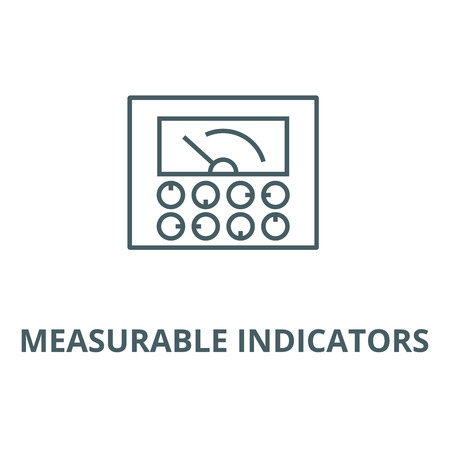 Measurable indicators,gauge vector line icon, outline concept, linear sign