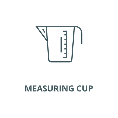 Measuring cup vector line icon, outline concept, linear sign