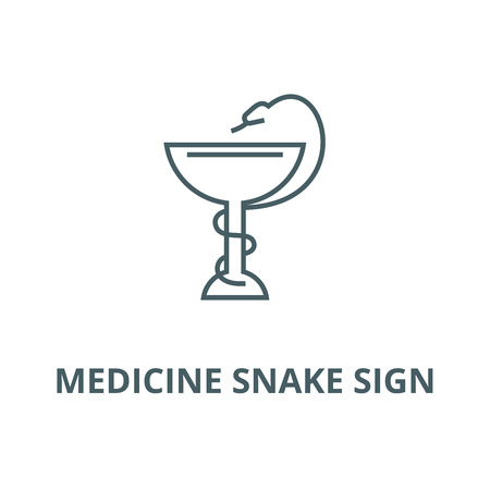 Medicine snake sign vector line icon, outline concept, linear sign