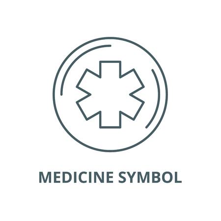 Medicine symbol vector line icon, outline concept, linear sign