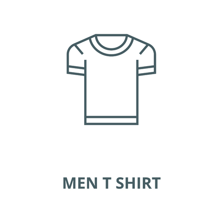 Men t shirt vector line icon, outline concept, linear sign