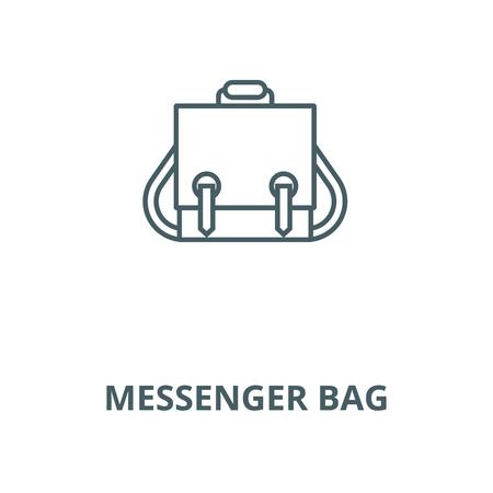 Messenger bag vector line icon, outline concept, linear sign Illustration