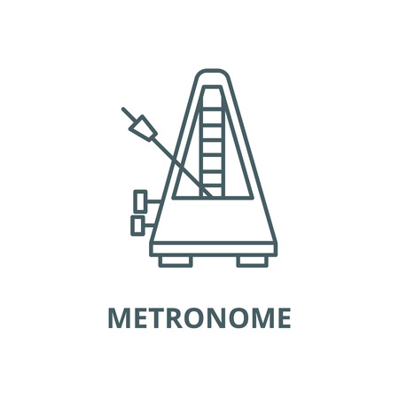 Metronome vector line icon, outline concept, linear sign