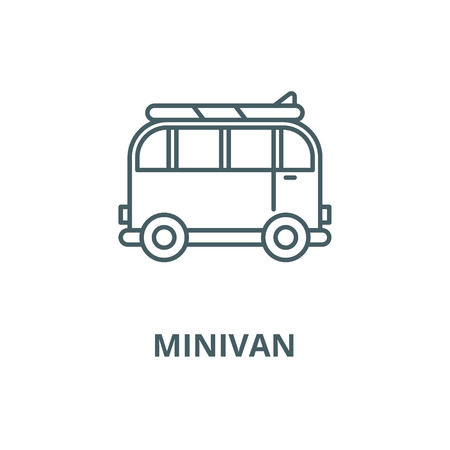 Minivan for travel vector line icon, outline concept, linear sign Stock Vector - 122416375