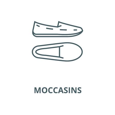 Moccasins vector line icon, outline concept, linear sign Archivio Fotografico - 122416383
