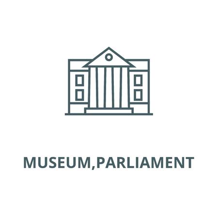 Museum,parliament vector line icon, outline concept, linear sign Standard-Bild - 122416434