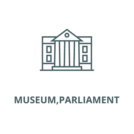 Museum,parliament vector line icon, outline concept, linear sign