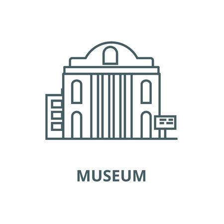 Museum vector line icon, outline concept, linear sign Illustration