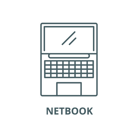Netbook vector line icon, outline concept, linear sign