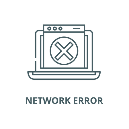 Network error vector line icon, outline concept, linear sign