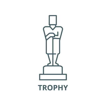 Oscar,trophy vector line icon, outline concept, linear sign