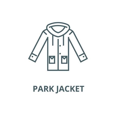 Park jacket vector line icon, outline concept, linear sign
