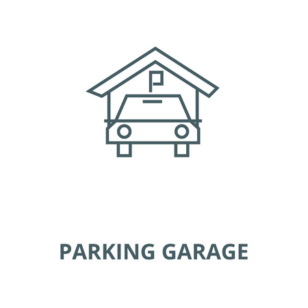Parking garage vector line icon, outline concept, linear sign Stock Illustratie