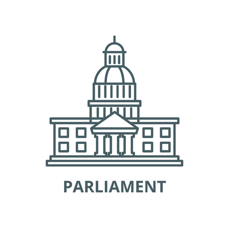 Parliament vector line icon, outline concept, linear sign
