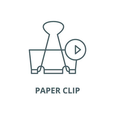 Paper clip vector line icon, outline concept, linear sign Illustration