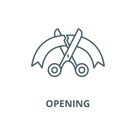 Opening vector line icon, outline concept, linear sign