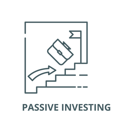 Passive investing vector line icon, outline concept, linear sign Çizim