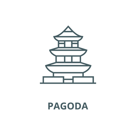 Pagoda,japan vector line icon, outline concept, linear sign