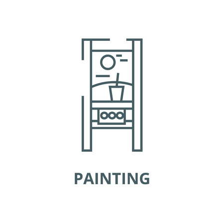 Painting vector line icon, outline concept, linear sign