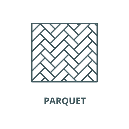 Parquet vector line icon, outline concept, linear sign