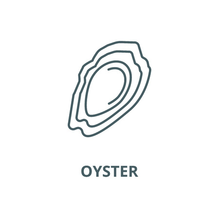 Oyster vector line icon, outline concept, linear sign