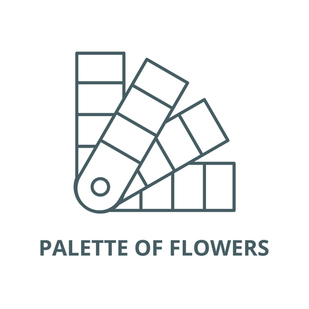 Palette of flowers vector line icon, outline concept, linear sign