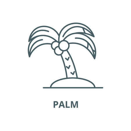 Palm vector line icon, outline concept, linear sign