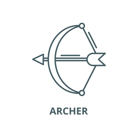 Archer vector line icon, outline concept, linear sign Illustration