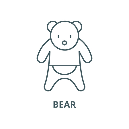 Bear vector line icon, outline concept, linear sign