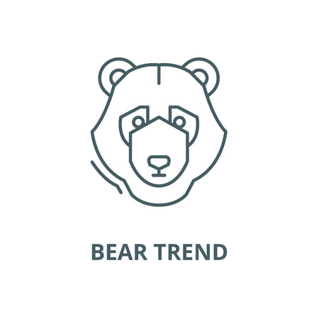 Bear trend vector line icon, outline concept, linear sign