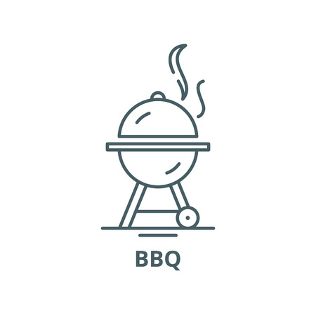 Bbq vector line icon, outline concept, linear sign
